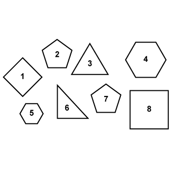 Numbered Polygons.