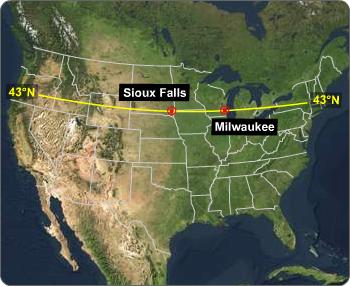 High Temprature Sioux Falls, Milaukee, Ocean Weather, Climate quiztutors.com