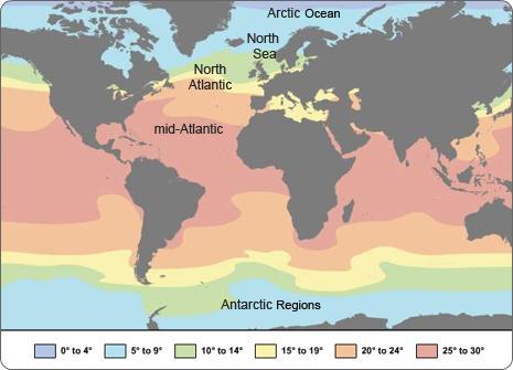Mid Atlantic Highest Salinity, Ocean Weather Climate, quiztutors.com