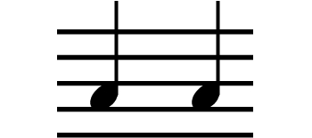 Two common music notes